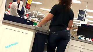 Curly Haired Woman With Thick Thighs and Fat Ass