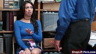 Teen shoplifter rammed by store security