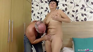 GERMAN GRANNY AND GRANDPA IN FIRST TIME PORN MOVIE