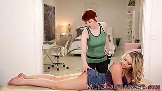 Massaged booty lesbian