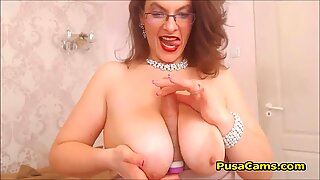 Hottest BBW Mature MILF with Glasses Teasing