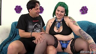 Tattooed Emo Plumper Nova Jade Sucks a Long Dick Before Taking It Vaginally
