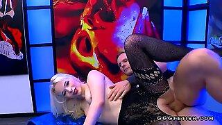 Ariella blonde gets banging and gives sucking