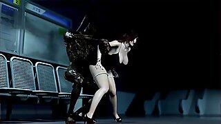 Anime X 3D: Scourgeofthvil Monster.