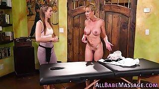 Fingered massaged lesbian