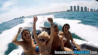 Yacht party teens jizzed