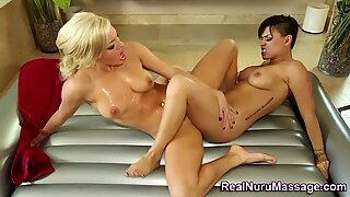 Lesbian masseuse scissors