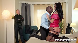 PRIVATE com - Hot Pierced Brunette Daphne Klyde DPd By BBC & White Dick!