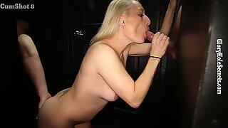 Gloryhole Secrets horny mother swallows loads of cum