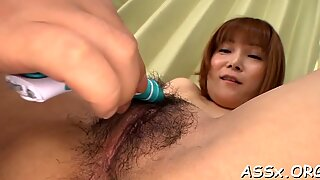 Stretching Asian chick s anal canal