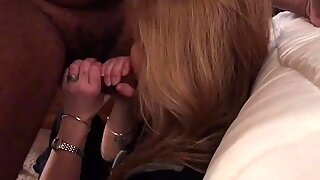 Granny gilf wife Jan blowjob OK her knees