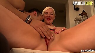AMATEUR EURO - French MILF Candys Makes Love With Younger Guy And Gets Anal