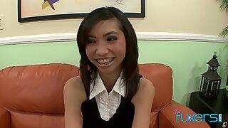 Petite Asian schoolgirl Rosemary Redeva