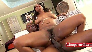 Ebony MILF cheats on husband with hot neighbor