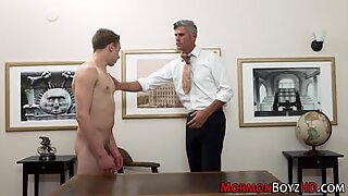 Horny mormon gets plowed