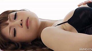 Gorgeous Japanese slut Yuria presents hot masturbation show