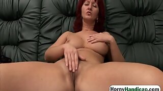Handicapped dude banging busty milf