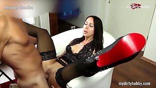 MyDirtyHobby - Busty secretary in stockings fucks her boss at the office