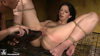 Kathia Nobili get a hard fuck by a huge dildo