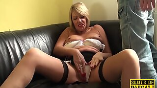 Busty British GILF Fuckfingering Their Self