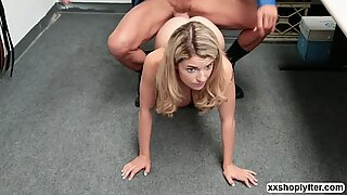 Shoplifter Abby Adams gets fuck by LPs big fat cock