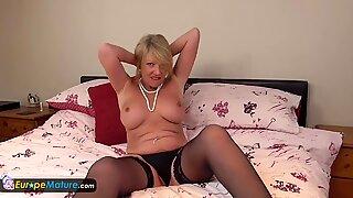 EuropeMature Horny mature Amy solo masturbation