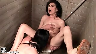 Grannies and Teens Naughty Lesbian Sex Compilation