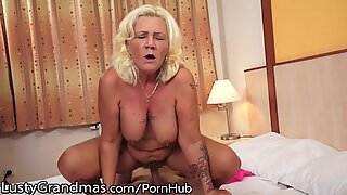 Lustygrandmas bootylicious Grandma shrieks for Youthful Cock
