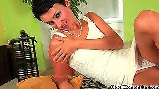 Hot mom Karen Kougar loves anal sex