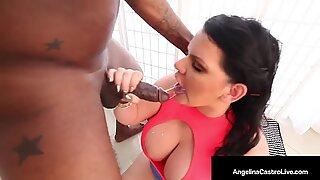 Is She Naughty or Nice? Cuban BBW Angelina Castro Gets Black Santa Cock!
