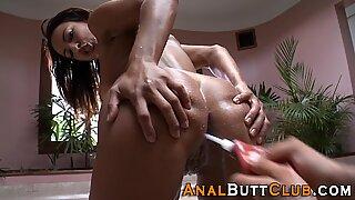 Round assed latina enema ho squirts milk