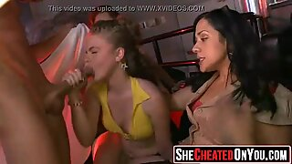 41 Wild party sluts suck off strippers t cfnm party12