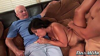 Asian Wife Lucky Starr Fucks White Cock