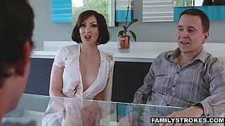 Hot MILF fucking her cute nephewReport this video