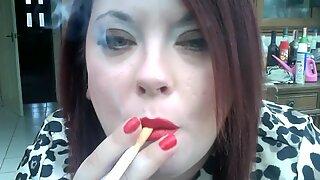 BBW Tina Smokes & Wants You To Cum! - JOI Mistress Fetish