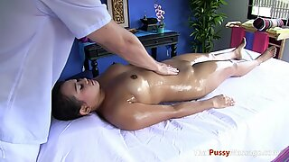 Masseuse Gets Frisky and Fucks a Chubby Thai Girl