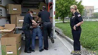 Milf fucks monster white cock and mature hairy wet pussy Black suspect taken on a tough