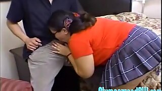 Asian BBW Tyung Lee Bounces on a Cock and Sucks on Another