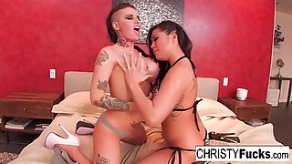 Hot Christy Mack and London Keyes take on Ramon's huge cock