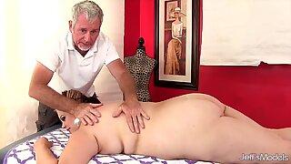 BBW Buxom Bella gets a sex massage