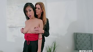 Busty office slut gets punished but she doesn't really mind it